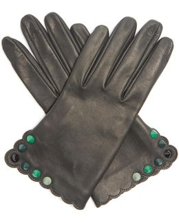 Studded Leather Gloves