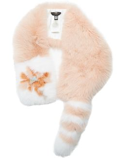 Flowerland Fur Scarf