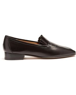 Adam Pleated Leather Loafers