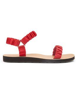 Egon Ruched-strap Sandals