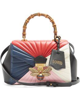 Queen Margaret Bamboo-handle Leather Shoulder Bag