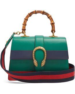 Dionysus Medium Bamboo-handle Leather Bag