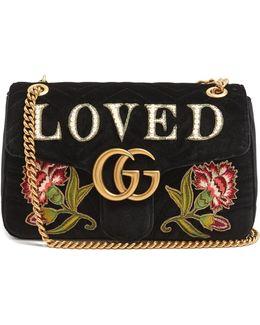 Gg Marmont Medium Quilted-velvet Shoulder Bag