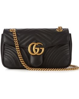 GG Marmont Small Quilted-leather Shoulder Bag