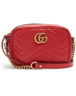 Gg Marmont Mini Quilted-leather Shoulder Bag