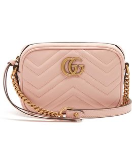 Gg Marmont Mini Quilted-leather Cross-body Bag