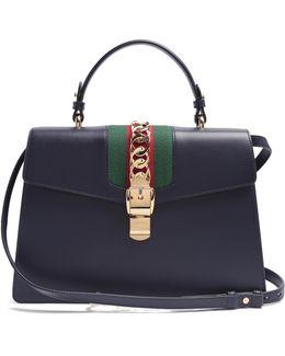 Sylvie Medium Leather Shoulder Bag