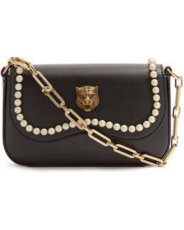 Broadway Faux-pearl Embellished Tiger Bag