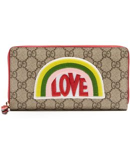 Love-appliqué Gg Supreme Wallet