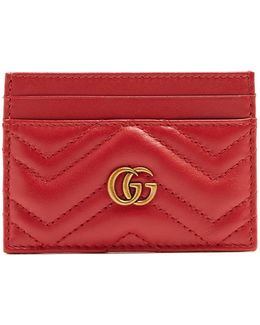 Gg Marmont Quilted-leather Cardholder