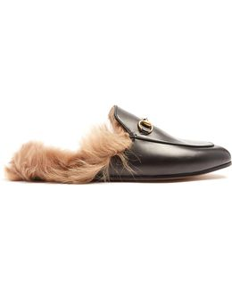 Princetown Shearling-lined Leather Loafers