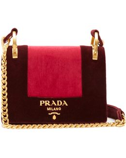 Pattine Velvet Shoulder Bag
