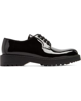 Lace-up Patent-leather Shoes