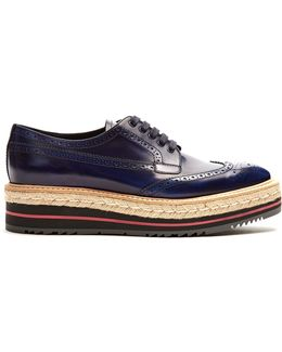 Lace-up Leather Flatform Brogues