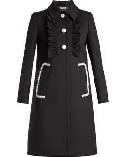 Lace-trimmed Twill Coat