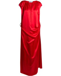 Tie-side Gathered Gown