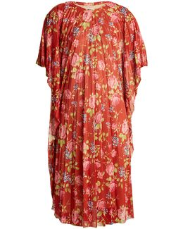 Gospel Floral-print Pleated Dress