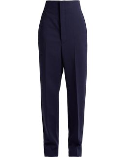 Mariner Dropped-crotch Wool-blend Trousers