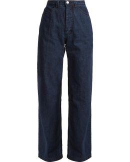 Workwear High-rise Wide-leg Denim Jeans