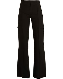 Wide-leg Crepe Trousers