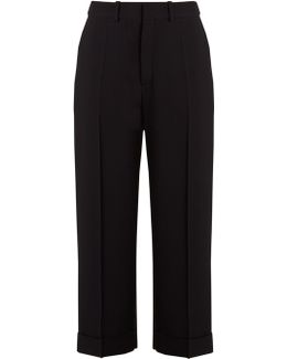 Crepe Pleated Trousers