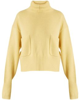 Roll-neck Patch-pocket Cashmere Sweater