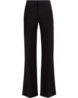 Slim-leg Crepe Trousers