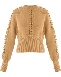 Pompom-embellished Sweater