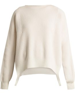 Side-loop Cotton, Wool And Cashmere-blend Sweater