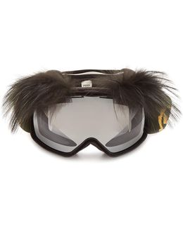 Fur-trimmed Ski Goggles