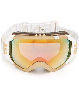 Logo-jacquard Ski Goggles