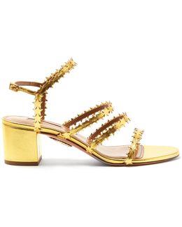 Starlight Block-heel Leather Sandals