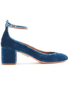 Alix Block-heel Velvet Pumps