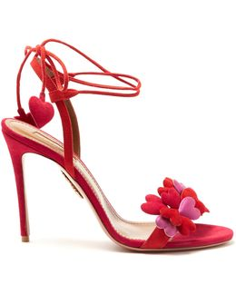 Happy Hearts Suede Sandals