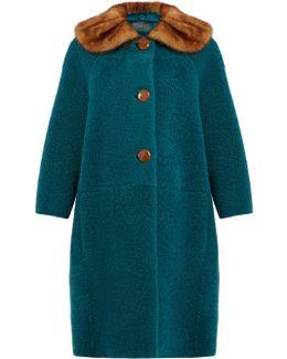 Fur-collar Shearling Coat