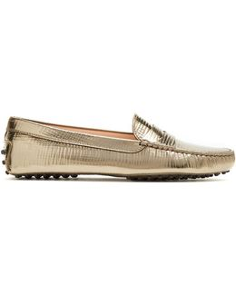 Gommini Embossed-leather Loafers