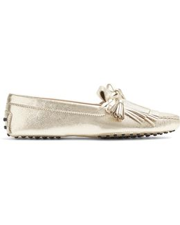 Gommini Fringed And Tassel Leather Loafers