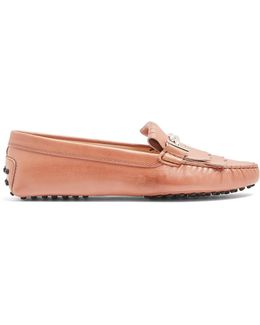 Gommini T-bar Fringed Leather Loafers