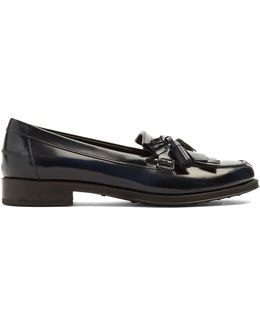 Gomma Fringed Leather Loafers