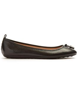 Ballet Grained Leather Flats