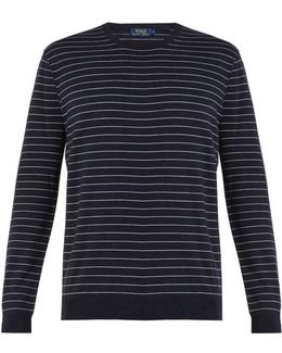 Striped Cotton And Cashmere-blend Sweater