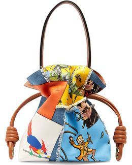 X Paula's Ibiza Flamenco Knot Patchwork Bag