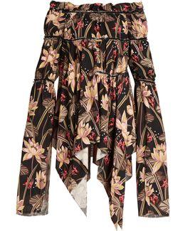 X Paula's Ibiza Floral-print Mini Dress