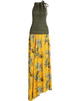 X Paula's Ibiza Bird-print Maxi Dress