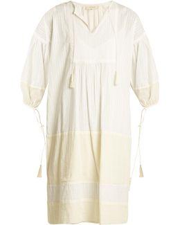 The Panel Tunic Tassel-trimmed Dress