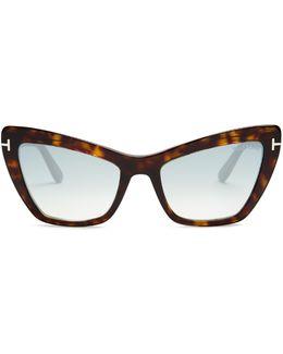 Valesca Mirrored Cat-eye Sunglasses