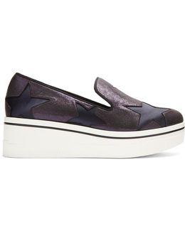 Binx Glitter-effect Flatform Loafers