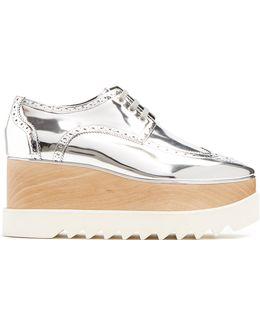 Elyse Lace-up Faux-leather Platform Shoes