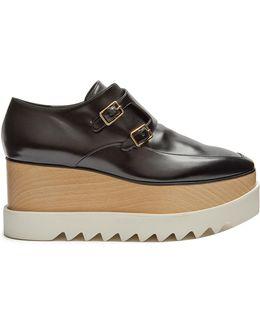 Elyse Monk-strap Faux-leather Platform Shoes