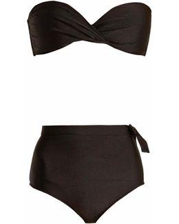Knot-detail Bandeau Bikini